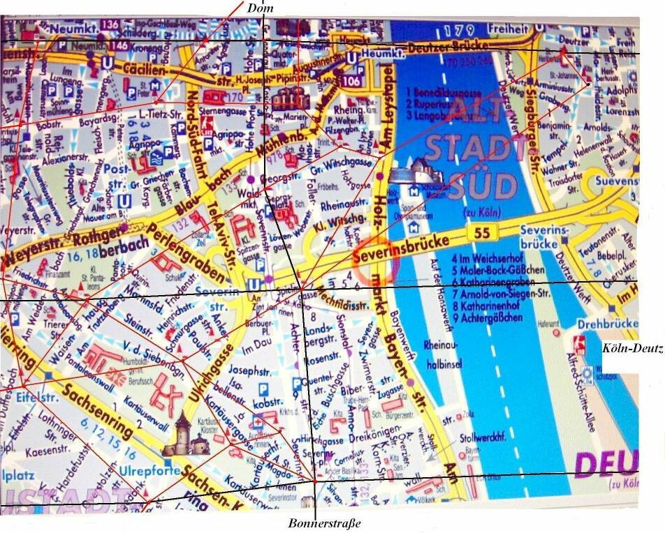 kraftorte deutschland karte Köln Karte Leylines und Energielinien kraftorte deutschland karte